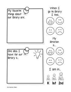 Elementary Library Survey Freebie | RiskingFailure @ TPT