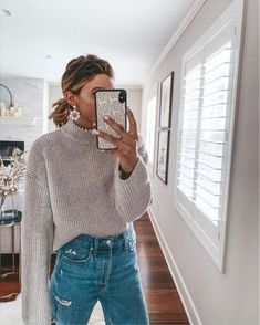 everyday outfits for school . everyday outfits for moms . Outfits Nachstylen, Casual Outfits, Sweater Outfits, Grunge Outfits, Trend Fashion, Look Fashion, Womens Fashion, Fashion Ideas, Fashion Black