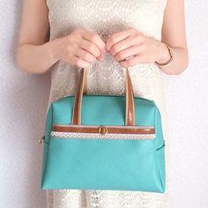 本革と和文様のボストンバッグ(2WAY)【牛革なのにとっても軽いバッグです】