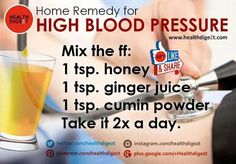 For high blood pressure