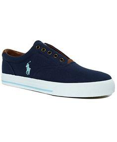 Polo Ralph Lauren Vito Laceless Canvas Sneakers