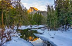 2014 National Parks Photo Contest - Landscape - Wintertime At Half Dome In Yosemite. Photo By Royce Nowlin