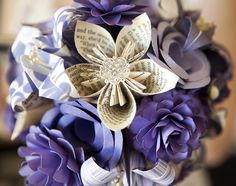 More paper flower decor.  Easy to do, and you have so much control over the color/pattern.