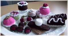 Playtime Pasteries...PDF Crochet Pattern by KTBdesigns on Etsy Store Shout Out!  <3 This store has the cutest crochet food toys!  Awesome stuff!