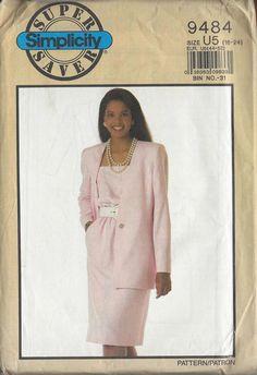 Simplicity Super Saver 9484 Misses Dress and Lined Jacket vintage sewing pattern…