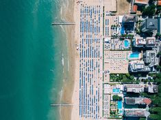 Drone aerial view of coastal resorts and an ocean sand beach in Lido di Jesolo Remote Control Drone, Aerial Drone, Real Estate Investor, Commercial Real Estate, Aerial Photography, Aerial View, Hd Photos, Indoor Outdoor, Images