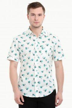 f3cc8bb9a Men s Short Sleeve Palm Tree Print Shirt Mens Shirts Online