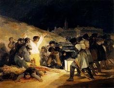 """""""Los fusilamientos del 3 de MAYO"""" 1814. Francisco de Goya y Lucientes."""