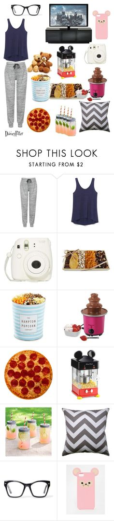 """""""What you absolutely need when your having a sleepover with your besties"""" by disneypotter ❤ liked on Polyvore featuring interior, interiors, interior design, home, home decor, interior decorating, Topshop, Rebecca Minkoff, Torn Ranch and The Hampton Popcorn Company"""