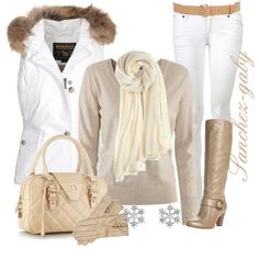 """Furry in White"" by sanchez-gaby on Polyvore"