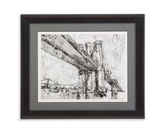 Bassett Mirror Iconic Suspension Bridge II Framed Art [9900-646BEC]