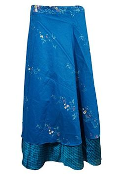 Mogul Interior Womens Wrap Long Skirt Blue Printed Two La... https://www.amazon.co.uk/dp/B01M3NPCGJ/ref=cm_sw_r_pi_dp_x_vSyLyb7GCCXGY
