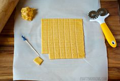 Win!  homemade cheezit recipe.  Gotta admit...I didn't go into this with high hopes. I love my cheez its.  But this recipe rocks!.  Mine aren't nearly so picture perfect, and I'll definitely bake them the full 20 minutes next time, but they are super yummy!
