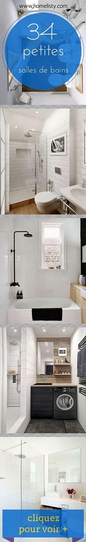 34 Petites Salles de Bains à Découvrir ici >> http://www.homelisty.com/petite-salle-de-bain-34-photos-idees-inspirations/