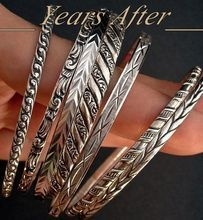 Art Deco STERLING Silver Bangle Bracelets DANECRAFT Signed  SEVEN Bangles Hallmarked