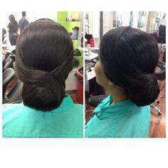 Peinado recogido elegante con Betty Flores.  #EstilistaCarolinaDiazDeLeon #MatamorosTamMx