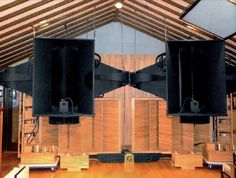 western electric attic setup with horns