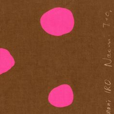Sew Modern : Nani Iro - Dots - Pink/Brown -