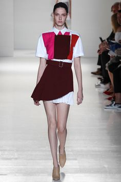 Victoria Beckham, Mini Skirt, Oxford come-on, Collared shirt