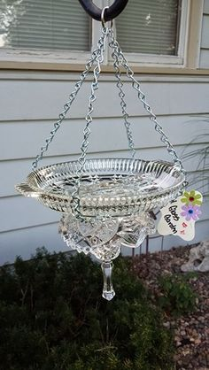 My Glass Garden - crystal bird feeder