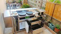 Café Design, Kiosk Design, Coffee Shop Bar, Coffee Carts, Cafe Restaurant, Restaurant Design, Food Truck, Crepe Station, Crepe Cafe