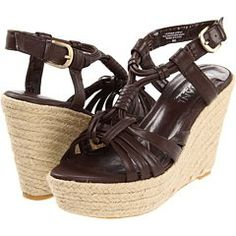 Lumiani International Collection Maren Sandals only $17.80 w/Free Shipping! Reg $ 89      Leather upper.      Adjustable buckle.      Lightly padded footbed.      Jute-wrapped wedge heel and platform.      Man-made lining and sole.