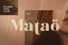 Matao Serif Font: Mataö is a bold and gorgeous and is great for headlines and elegant designs with a vintage and classic flair. Font Design, Design Typography, Web Design, Design Poster, Lettering, Typography Fonts, Type Design, Layout Design, Graphic Design