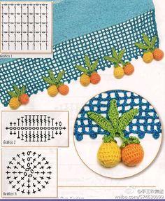 Watch The Video Splendid Crochet a Puff Flower Ideas. Phenomenal Crochet a Puff Flower Ideas. Crochet Borders, Crochet Flower Patterns, Crochet Diagram, Filet Crochet, Irish Crochet, Crochet Motif, Crochet Designs, Crochet Flowers, Crochet Kitchen
