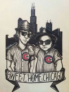 Love this Blues Brothers and Chicago Cubs sketch! Chicago Cubs Baseball, Chicago Bears, Chicago Chicago, Cubs Team, The Blues Brothers, Cubs Win, Go Cubs Go, Chicago Hotels, My Kind Of Town