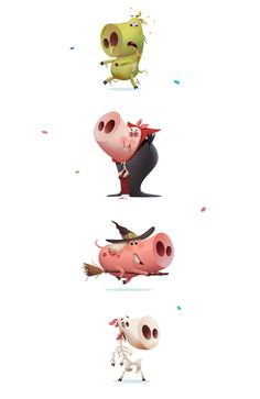 Piggy Pink for Sticker.Place on Behance