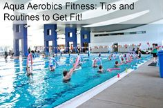 Aqua aerobics for fitness - Tips and routines. I used to teach these classes and they are GREAT.