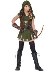 Miss Robin Hood Medieval Renaissance Outlaw Tween Halloween Costume | eBay