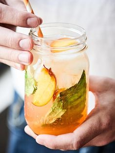 A refreshing adult's only cocktail, this Peach Lemonade Spritzer is made with…