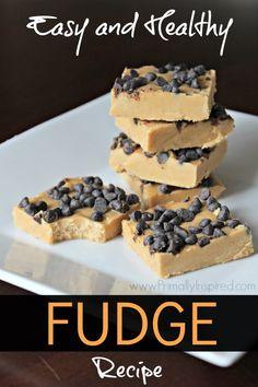 Easy, Healthy Fudge Recipe - PrimallyInspired.com