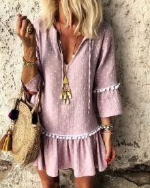 dress, summer, pretty, dresses, necklace, zara, bohemian, bohochic