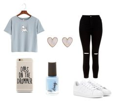"""""""Skate"""" by gabs-12 on Polyvore featuring New Look and adidas"""