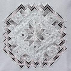 Welkom op de website van Joke Bosman Hardanger Embroidery, Embroidery Stitches, Drawn Thread, Needful Things, Needlework, Bohemian Rug, Blanket, Lace, Elsa