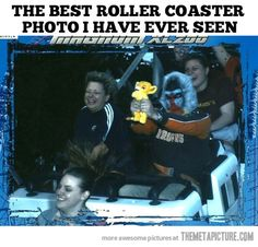 Probably the best roller coaster photo ever taken…