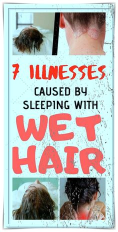 Many of us have the habit of going to bed with wet hair. However, you should know that this is a huge mistake. In fact, sleeping with wet or even damp hair can be the cause of many health problems. This does not, however, mean that you will catch a cold or pneumonia bit there are some other health issues that might arise. Health And Beauty Tips, Health Tips, Health And Wellness, Healthy Detox, Healthy Hair, Brazilian Butt Workout, Sleeping With Wet Hair, Easy Contouring, Healthy Starbucks
