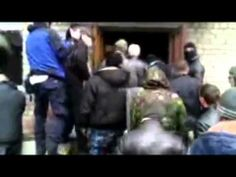 Ukraine crisis: Protesters storm Horlivka police station Police Station, Ukraine, World, News, Youtube, Fictional Characters, The World, Youtubers, Earth