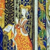 Marguerite d'Orleans,Comtesse de Vertus (1406-1466),daughter of Louis I Duc d'Orleans and Valentina Visconti,XVth c. illustration from the Book of Hours of Marguerite d'Orleans