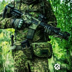 Soldiers green camouflage