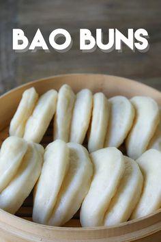 Chinese Steam Bun Recipe, Steam Buns Recipe, Chinese Sweet Buns Recipe, Chinese Bread Recipe, Pork Recipes, Asian Recipes, Cooking Recipes, Cooking Courses, Cooking Bacon
