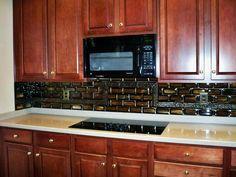 backsplash stacked tiles6 fused glass tile kitchen backsplash stacked