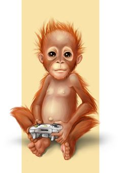 baby orangutang by Kaeleen on DeviantArt