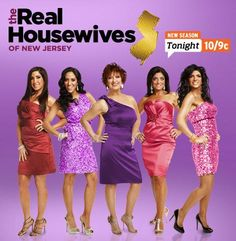 real housewives of new jersey.. It's a train wreck and you can look away lol