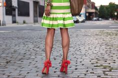 I could never pull this skirt off, but I still love it!      atlantic pacific stripes carven bow kate spade green