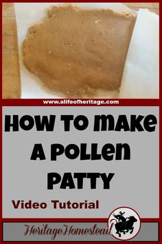 Bees | How to Bees | Bee Care | Watch this video to get an idea on how to make pollen patties. Pollen patties are a high protein substitute that supplies lipids, minerals, and vitamins