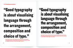 """Hanging punctuation (or lack thereof) is a really quick way to distinguish a """"designer"""" by hobby from a trained professional."""