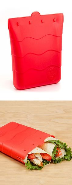 Silicon sandwich bag - great reusable alternative to plastic bags. BPA, phthalate, and lead-free.